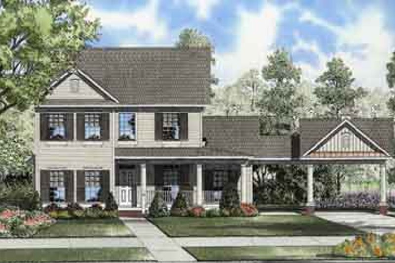Dream House Plan - Colonial Exterior - Front Elevation Plan #17-2115