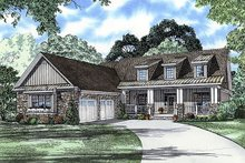 Architectural House Design - Front View - 2500 square foot country home