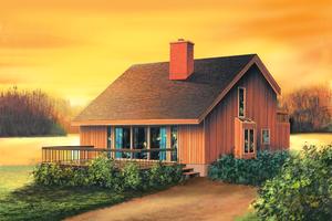 Cottage Exterior - Front Elevation Plan #25-4419