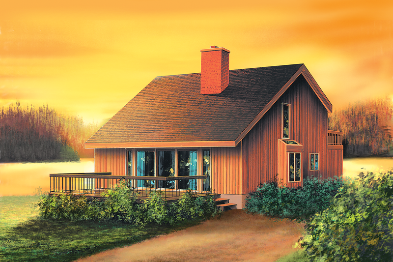Cottage Style House Plan - 3 Beds 2 Baths 1319 Sq/Ft Plan #25-4419 Exterior - Front Elevation