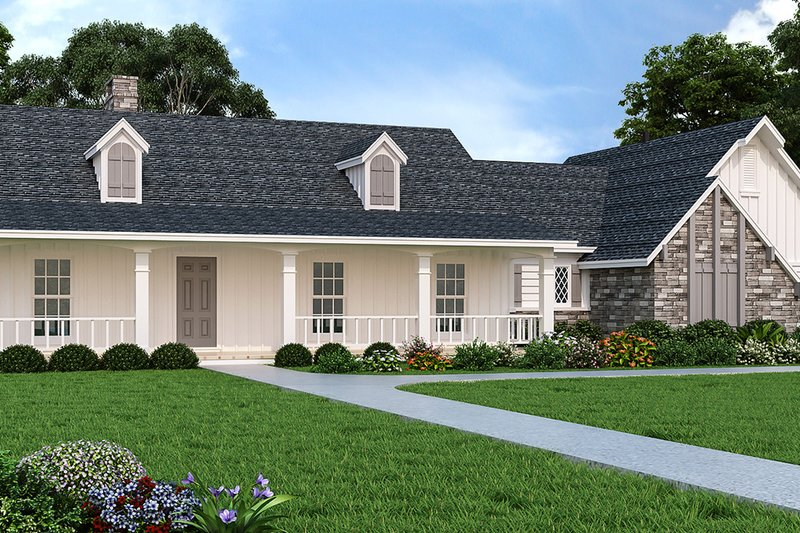 Home Plan - Country Exterior - Front Elevation Plan #45-115