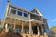 Craftsman Style House Plan - 4 Beds 4.5 Baths 3958 Sq/Ft Plan #437-85 Exterior - Rear Elevation