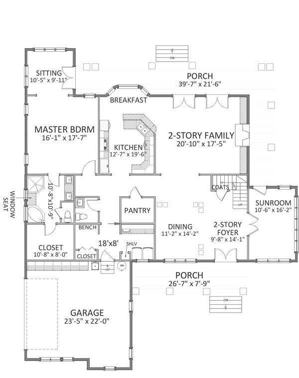 Traditional Floor Plan - Upper Floor Plan Plan #898-32