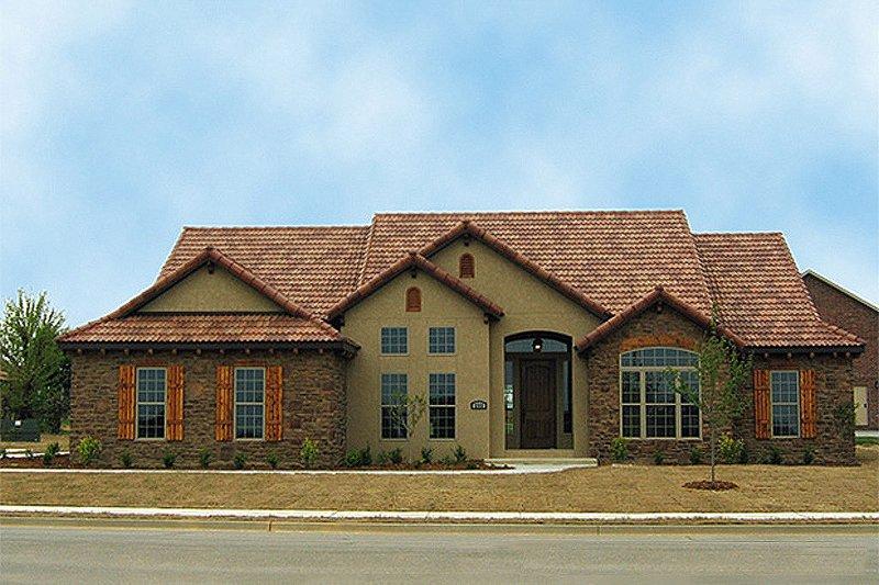 Architectural House Design - European Exterior - Front Elevation Plan #17-654