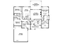 Ranch Floor Plan - Main Floor Plan Plan #124-1146