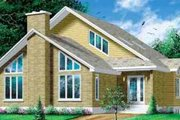 Modern Style House Plan - 3 Beds 2 Baths 2620 Sq/Ft Plan #25-372 Exterior - Front Elevation