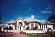 Mediterranean Style House Plan - 3 Beds 3.5 Baths 3866 Sq/Ft Plan #930-40 Exterior - Front Elevation