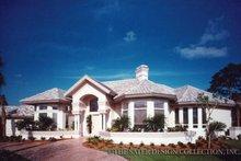 House Plan Design - Mediterranean Exterior - Front Elevation Plan #930-40