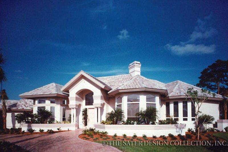 Dream House Plan - Mediterranean Exterior - Front Elevation Plan #930-40