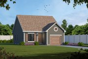 Traditional Style House Plan - 2 Beds 2 Baths 1091 Sq/Ft Plan #20-1698 Exterior - Front Elevation
