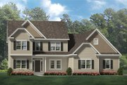 Traditional Style House Plan - 4 Beds 3.5 Baths 2727 Sq/Ft Plan #1010-206 Exterior - Front Elevation