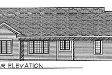Dream House Plan - Traditional Exterior - Rear Elevation Plan #70-145