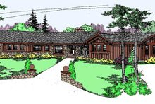Ranch Exterior - Front Elevation Plan #60-127