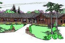 House Plan Design - Ranch Exterior - Front Elevation Plan #60-127