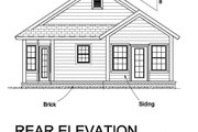Craftsman Style House Plan - 3 Beds 2 Baths 1381 Sq/Ft Plan #513-2074 Exterior - Rear Elevation