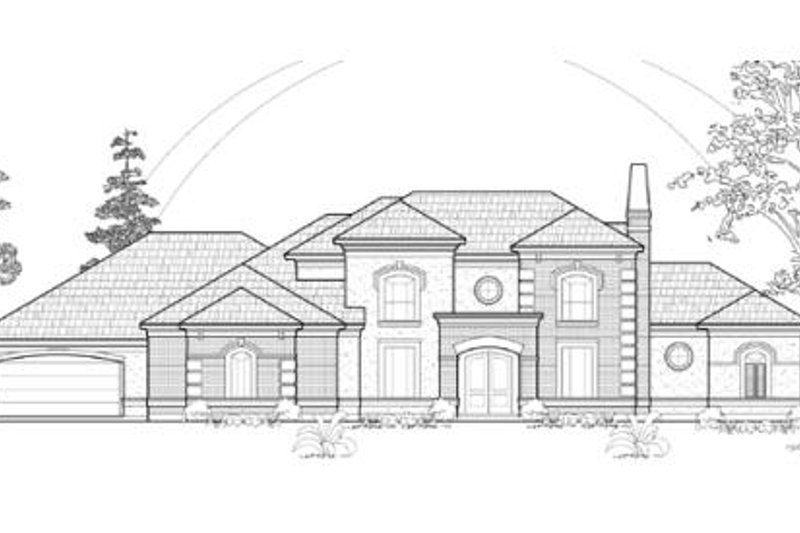 Traditional Exterior - Front Elevation Plan #61-168 - Houseplans.com