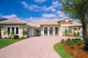 Mediterranean Style House Plan - 3 Beds 4 Baths 3954 Sq/Ft Plan #930-291 Exterior - Front Elevation