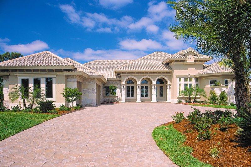 House Plan Design - Mediterranean Exterior - Front Elevation Plan #930-291