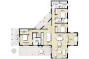Contemporary Style House Plan - 3 Beds 2 Baths 2320 Sq/Ft Plan #924-1 Floor Plan - Main Floor Plan