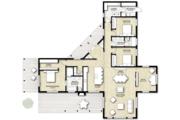 Contemporary Style House Plan - 3 Beds 2 Baths 2320 Sq/Ft Plan #924-1 Floor Plan - Main Floor
