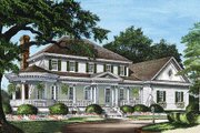 Colonial Style House Plan - 4 Beds 3.5 Baths 3359 Sq/Ft Plan #137-119 Exterior - Front Elevation