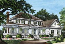 Architectural House Design - Colonial Exterior - Front Elevation Plan #137-119