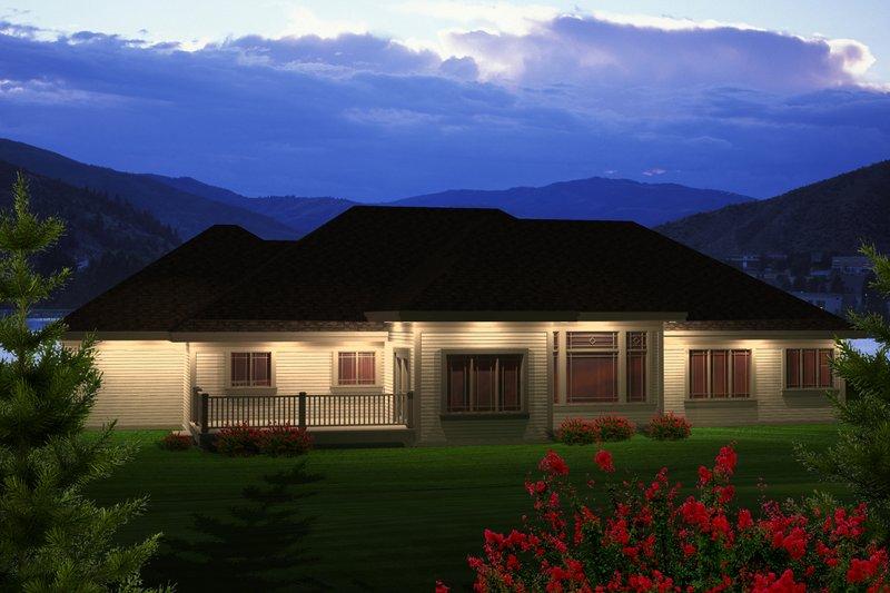 Ranch Exterior - Rear Elevation Plan #70-1121 - Houseplans.com