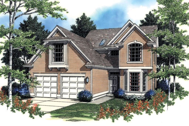 Traditional Exterior - Front Elevation Plan #48-380