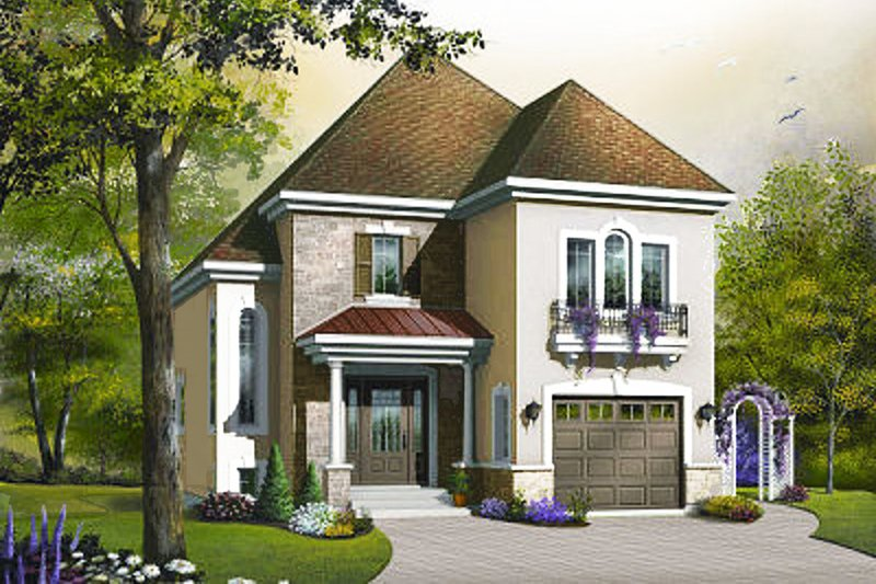 Dream House Plan - European Exterior - Front Elevation Plan #23-374