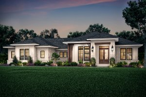 Ranch Exterior - Front Elevation Plan #430-211