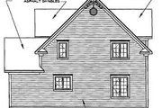 Farmhouse Style House Plan - 3 Beds 1.5 Baths 1798 Sq/Ft Plan #23-2170 Exterior - Rear Elevation