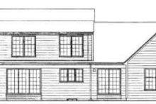 Colonial Exterior - Rear Elevation Plan #72-442