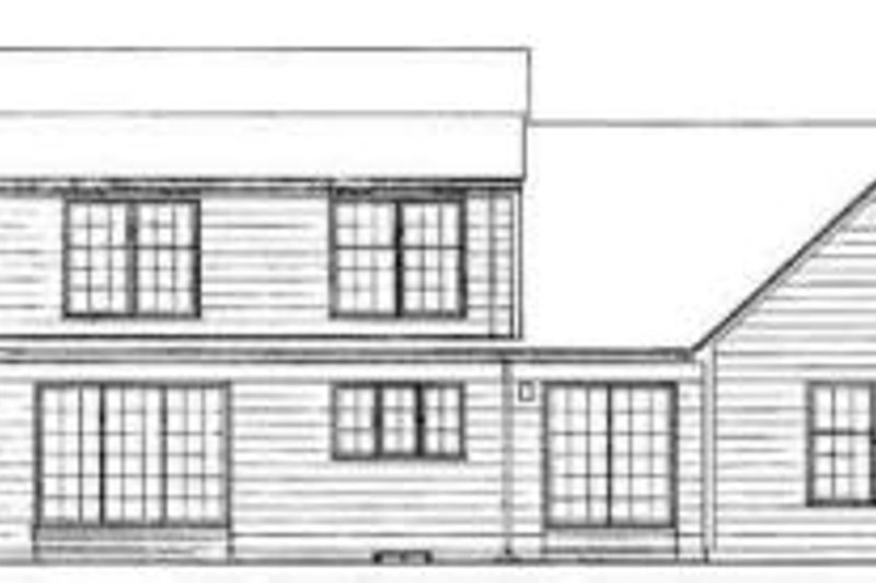 Colonial Exterior - Rear Elevation Plan #72-442 - Houseplans.com