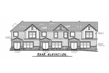 Dream House Plan - Traditional Exterior - Rear Elevation Plan #20-2356