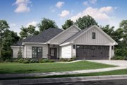 Traditional Style House Plan - 3 Beds 2 Baths 1381 Sq/Ft Plan #430-134 Exterior - Front Elevation