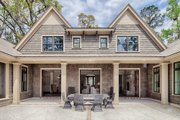 Country Style House Plan - 4 Beds 4.5 Baths 4852 Sq/Ft Plan #928-1 Exterior - Rear Elevation