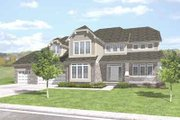 Bungalow Style House Plan - 5 Beds 4 Baths 3947 Sq/Ft Plan #50-275 Exterior - Front Elevation