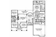 Country Style House Plan - 4 Beds 3 Baths 2250 Sq/Ft Plan #21-196 Floor Plan - Main Floor Plan