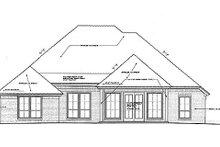 Tudor Exterior - Rear Elevation Plan #310-963