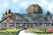 Country Style House Plan - 4 Beds 3 Baths 2563 Sq/Ft Plan #427-8 Exterior - Front Elevation
