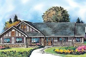 Architectural House Design - Country Exterior - Front Elevation Plan #427-8