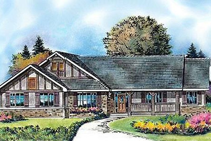 House Blueprint - Country Exterior - Front Elevation Plan #427-8