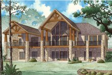 Country Exterior - Rear Elevation Plan #923-43