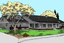 Southern Exterior - Front Elevation Plan #60-626