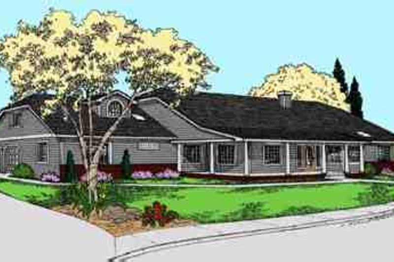 Southern Exterior - Front Elevation Plan #60-626 - Houseplans.com
