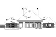 Home Plan Design - European Exterior - Rear Elevation Plan #45-333