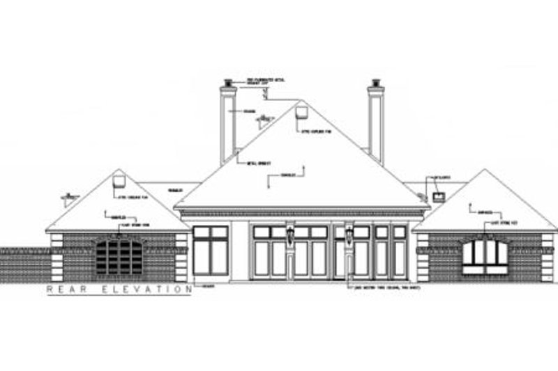 European Exterior - Rear Elevation Plan #45-333 - Houseplans.com