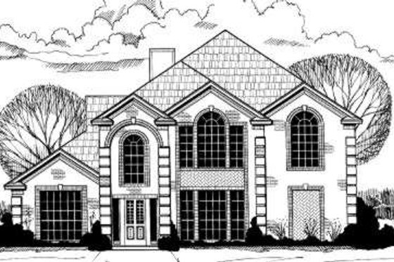 European Exterior - Front Elevation Plan #317-113