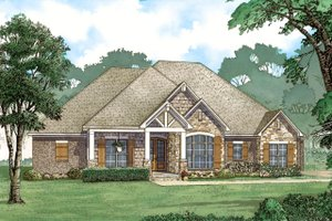 European Exterior - Front Elevation Plan #923-80
