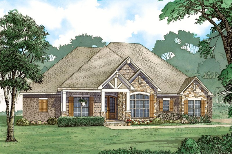 Home Plan - European Exterior - Front Elevation Plan #923-80